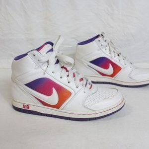 Vintage Nike Air Women's White Purple Sneakers Sz